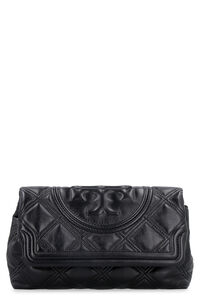 Clutch Fleming in pelle trapuntata, Clutch Tory Burch woman