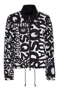 All-over logo nylon jacket, Raincoats And Windbreaker Dsquared2 woman