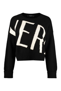 Crew-neck wool sweater, Crew neck sweaters Versace woman