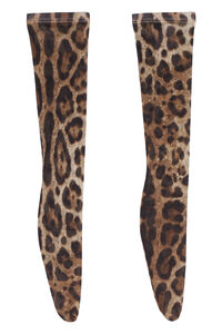Leopard print knee-high socks, Socks Dolce & Gabbana woman