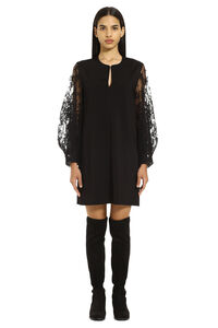 Lace sleeves dress, Mini dresses Givenchy woman