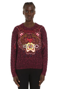 Claw Tiger wool blend sweater, Crew neck sweaters Kenzo woman