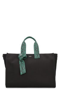 Horizontal canvas tote bag, Tote bags Pinko woman