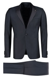 Three-piece wool suit, Double breasted blazers Tagliatore man