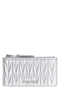 Quilted leather card holder, Wallets Miu Miu woman