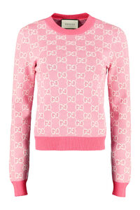 Wool-cotton blend crew-neck pullover, Crew neck sweaters Gucci woman