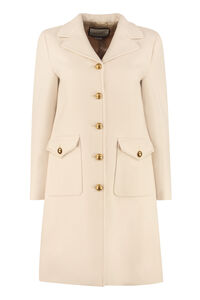 Single-breasted wool coat, Knee Lenght Coats Gucci woman