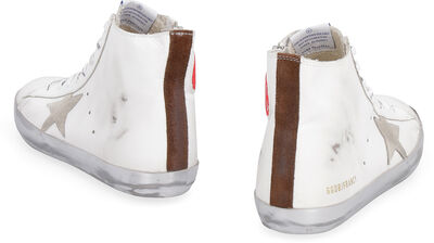 Francy leather high-top sneakers