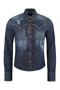 Logo detail denim shirt, Denim Shirts Dsquared2 man