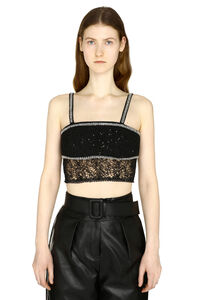 Embellished lace top, Crop tops Self-Portrait woman