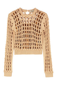Cable knit pullover, Crew neck sweaters Fendi woman