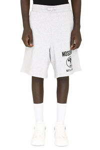 Logo print fleece shorts, Shorts Moschino Couture man