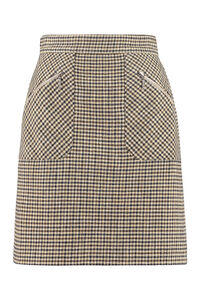 Checked mini-skirt, Mini skirts ALEXACHUNG woman