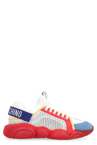 Teddy canvas and leather sneakers, Low Top Sneakers Moschino man