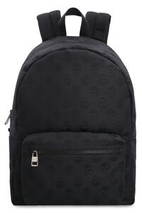 Skull motif canvas backpack, Backpack Alexander McQueen man