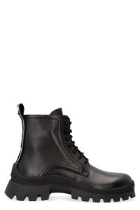 Leather combat boots, Ankle Boots Dsquared2 woman