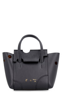 Burrow perforated leather bag, Top handle Off-White woman