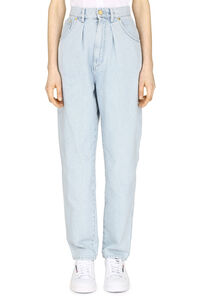 High-rise straight ankle jeans, Straight Leg Jeans Alberta Ferretti woman