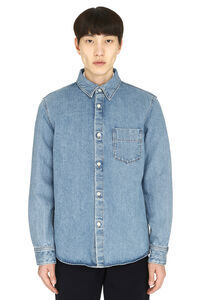 Victor cotton overshirt, Denim Shirts A.P.C. man