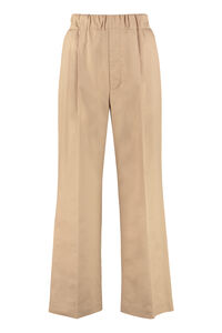 High-waist wide-leg trousers, Wide leg pants Maison Jejia woman
