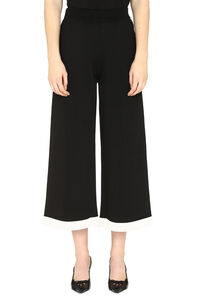Knitted culotte pants, Wide leg pants Boutique Moschino woman