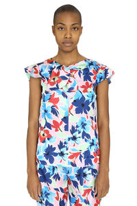 Printed blouse with ruffles, Printed tops Boutique Moschino woman