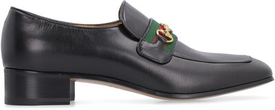 Horsebit detail leather loafers
