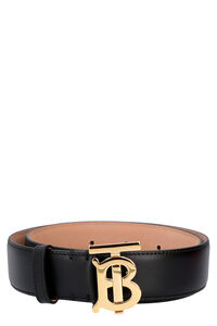 Logo buckle leather belt, Belts Burberry woman
