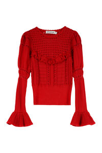 Knitted lace top, Crew neck sweaters Self-Portrait woman