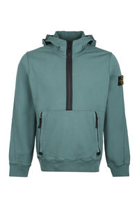 Cotton full zip hoodie, Hoodies Stone Island man