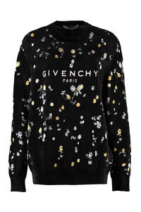 Logo embroidery crew-neck sweatshirt, Sweatshirts Givenchy woman