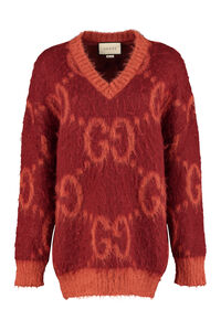 Mohair-wool sweater, V neck sweaters Gucci woman