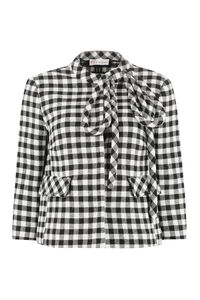 Short jacket with applied bow, Casual Jackets Red Valentino woman