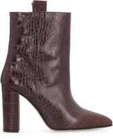 Leather ankle boots, Heeled Boots Paris Texas woman