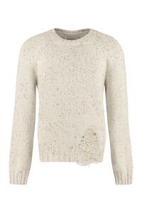 Crew-neck wool-blend sweater, Crew necks sweaters Maison Margiela man