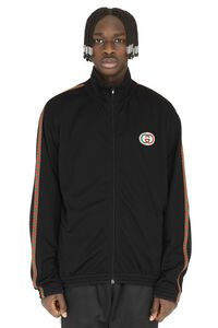 Felpa full-zip con patch, Felpe con zip Gucci man