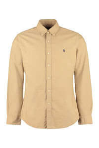 Cotton button-down shirt, Plain Shirts Polo Ralph Lauren man