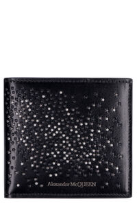 Leather flap-over wallet, Wallets Alexander McQueen man