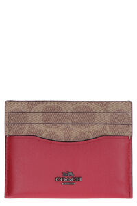 Logoed leather card holder, Wallets Coach woman