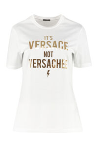 Crew-neck cotton T-shirt, T-shirts Versace woman