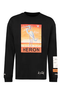 Printed cotton t-shirt - Heron Preston X Kenny Scharf, Long sleeve t-shirts Heron Preston man