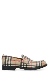 Printed leather loafers, Driving Shoes Burberry man