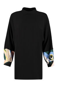 Printed twill inserts blouse, Blouses Emilio Pucci woman