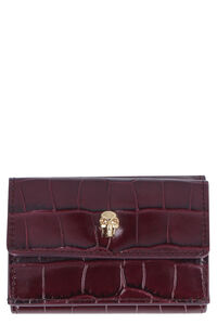Skull micro leather wallet, Wallets Alexander McQueen woman