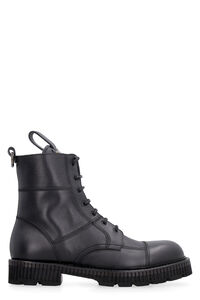 Leather combat boots, Lace-up boots Dolce & Gabbana man