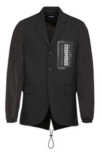 Wool blend single-breast jacket, Single breasted blazers Dsquared2 man