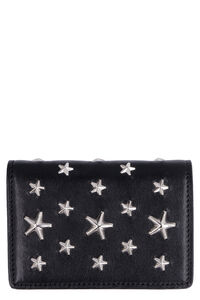 Jaxi leather wallet with stars, Wallets Jimmy Choo woman