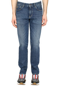 Slim tapered fit jeans, Slim jeans Giorgio Armani man
