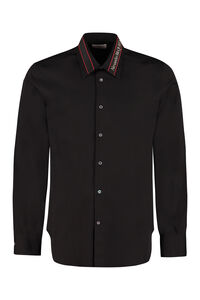 Stretch cotton shirt, Plain Shirts Alexander McQueen man