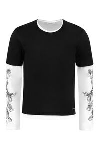 Long sleeve cotton T-shirt, Long sleeve t-shirts Alexander McQueen man